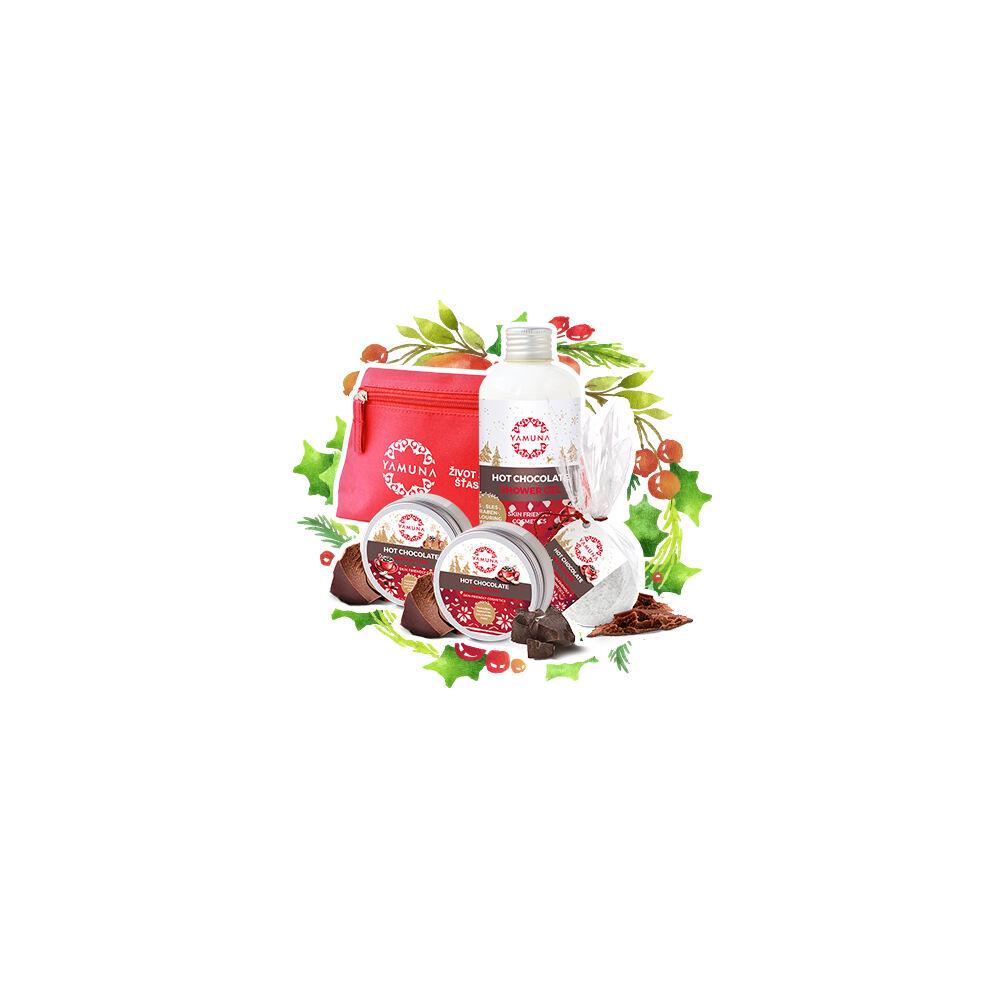 Yamuna Veľké prírodné ošetrenie tela Horúca čokoláda s kozmetickou taštičkou